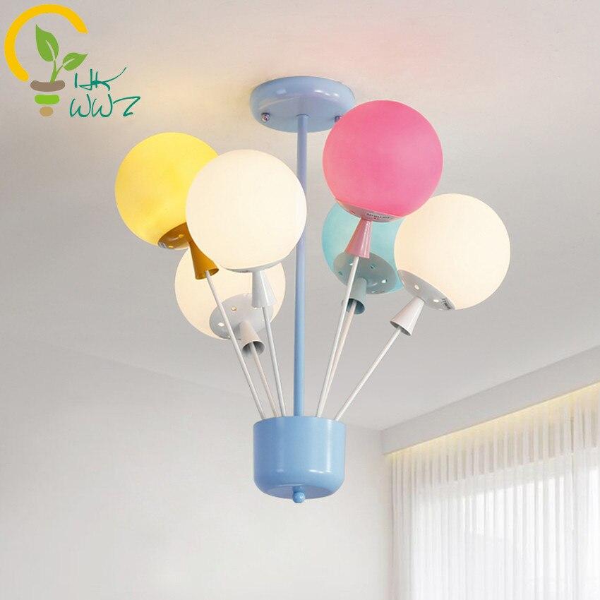 Новый Дизайн шар потолочный светильник современный просто детская комната для мальчиков и девочек светодиодный Потолочные светильники Сп