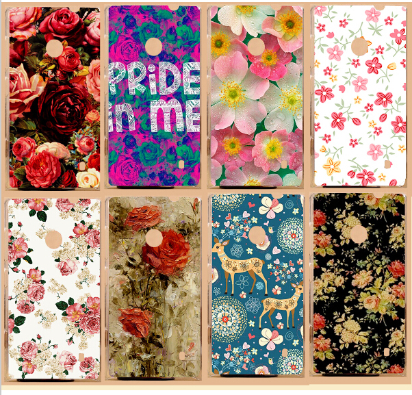 Fashion 3D Painting Colorful Flowers Cases For Nokia Lumia