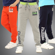 2016 New Korean fashion children spring sports pants Big boys version trousers ,kids clothes child clothing High-quality DD009