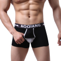 sexy underwear big men cueca boxer Shorts Breathe Underwear Bulge Pouch Shorts Underpants brand clothing gay men underwear