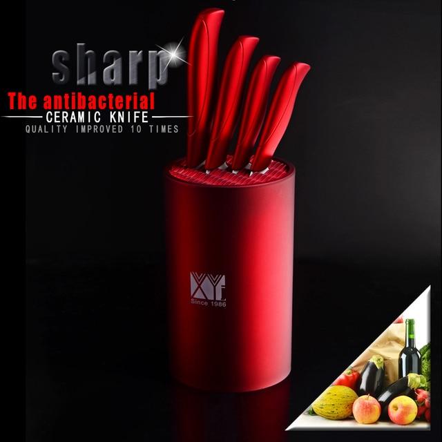 Sharper Ceramic Knife Set Kitchen Knives Good Lookingred Handle White Blade  Cermic Knives+pretty