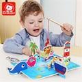 Divertido Brinquedos De Pesca De Madeira 3D Marca Top brilhante Para O Bebê Caçoa o Presente Toy Montessori Educacional Macio crianças inteligentes TP010