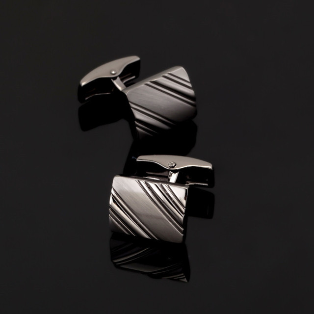 High Men's Shirt Cuffs Black Cufflinks Brass 1 Pairs Delivery
