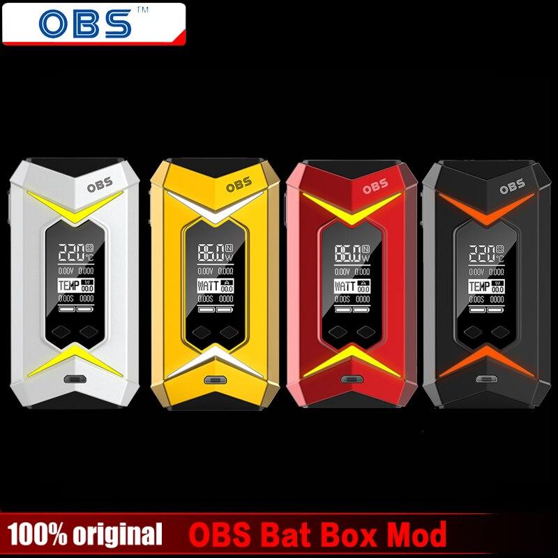 100% Originale OBS Bat TC Box Contenitore di Batteria Mod 218 W Vape Vapor Sigarette e Abbinare OBS Motore/Crius/Damo Serbatoio