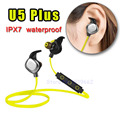Morul U5 PLUS Bluetooth Headset V4.1 Swimming IPX7 Waterproof Earphones Sport Headset NFC for iphone 7/ Samsung huawei with mic