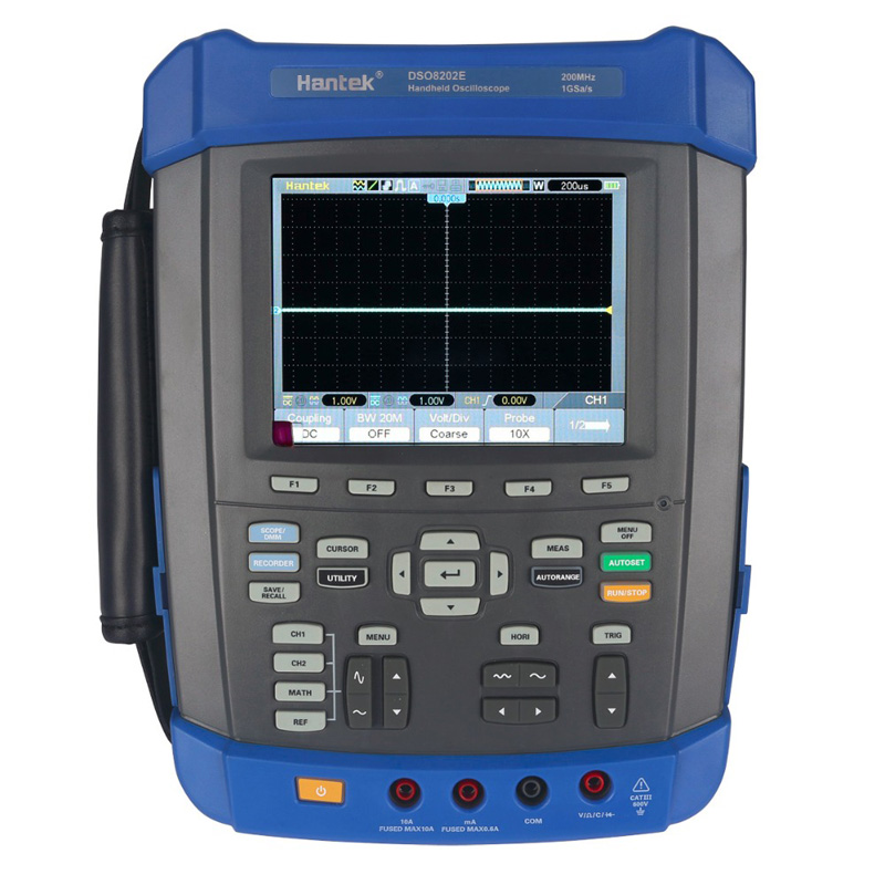 Oscilloscope Hantek DSO8202E 200MHz 6 in 1 Handheld 1GS/s 2M Memory Depth 2 Channels DMM Spectrum Analyzer Wave Generator updated from dso 1060 hantek dso1062b handheld oscilloscope 2 channels 60mhz 1gsa s sample rate 1m memory depth 6000 counts dmm