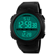 2016 Luxury Brand Silicone Watch Mens Sports Digital LED Military Watch Men Fashion Casual Electronics Wristwatches