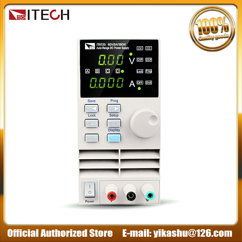 ITECH IT6720 Adjustable Auto Range DC Power Supply 100W 60V 5A Digital Switching Power Supplies Voltage