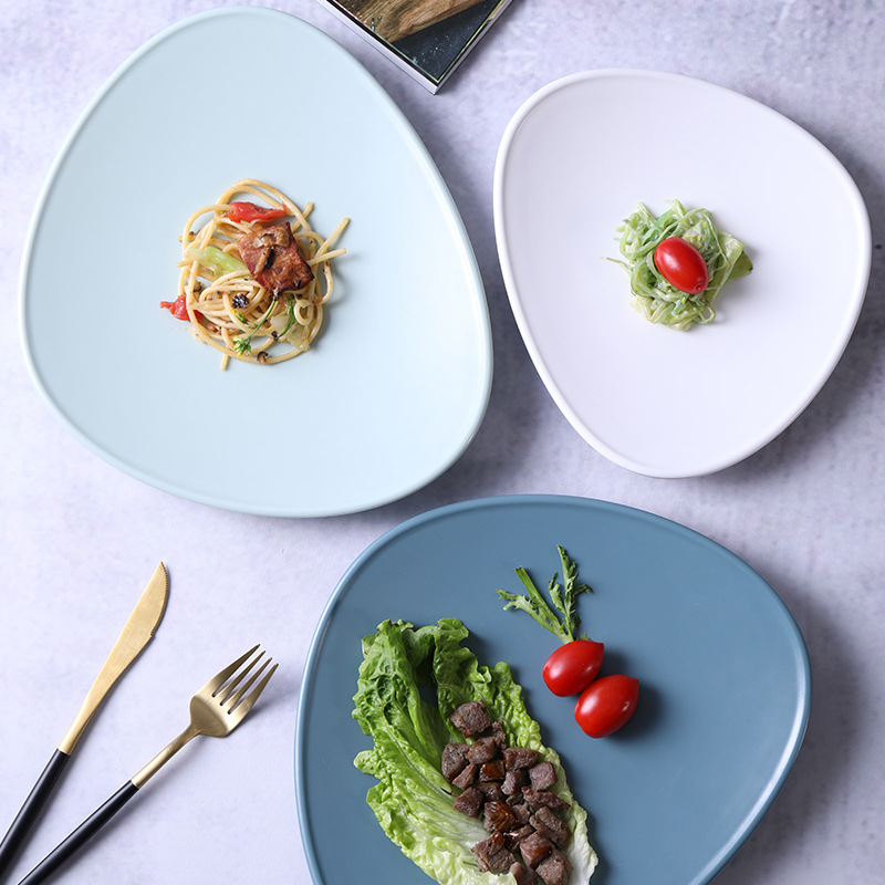 Brief Shell Shape Melamine Plate Solid Imitation Ceramic Plate Western Steak Dinner Plate Dessert Cake Tray Fruit Snack Dishes in Dishes Plates from Home Garden