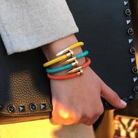 Mcllroy bracelet men/316L stainless steel nail/luxury/Stingray bracelets for women men customized handmade charms couple jewelry