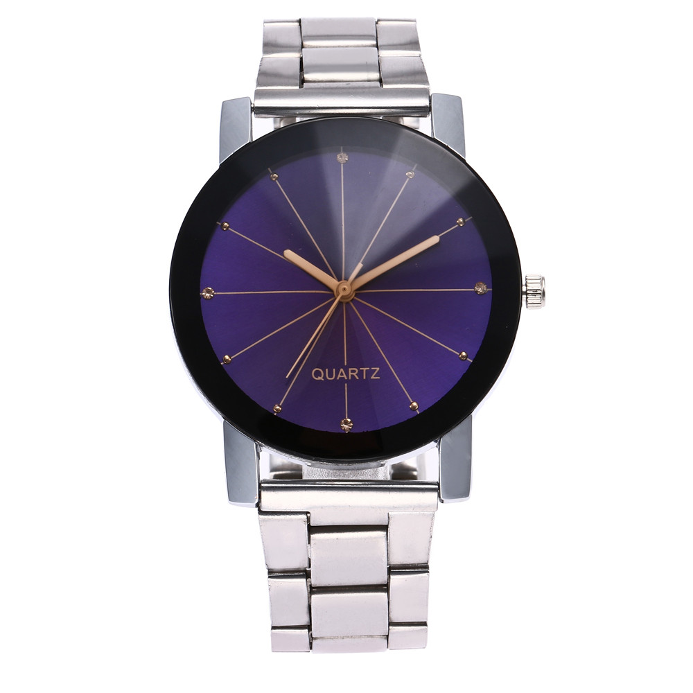 Couple Watch In Lover's Watches Delicate Business Ladies Watch Stainless Steel Men Clock Saat Over Watch Shirts Orologio Donna*A