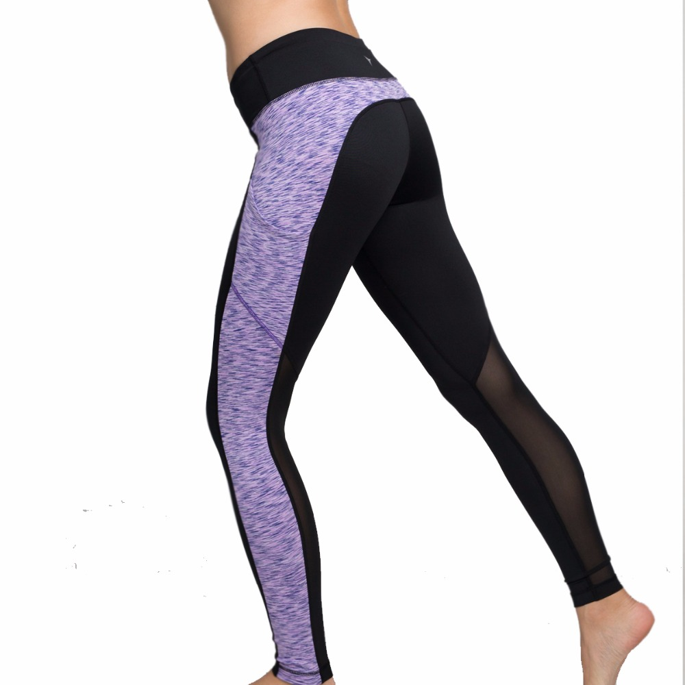 Black Tight Yoga Pants Women Hot Sexy Leggings Sport Gym -5875