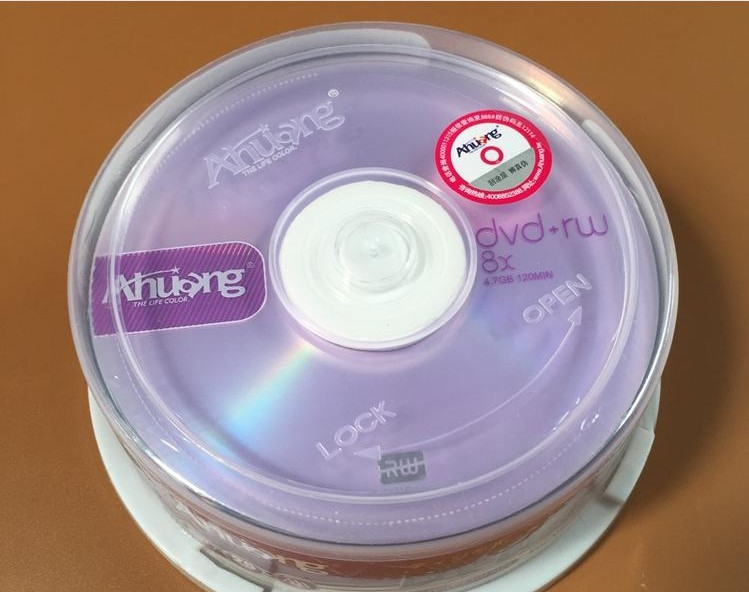 Wholesale 10 discs A+ Ahuang Blank Printed 8x 4.7 GB DVD+RW