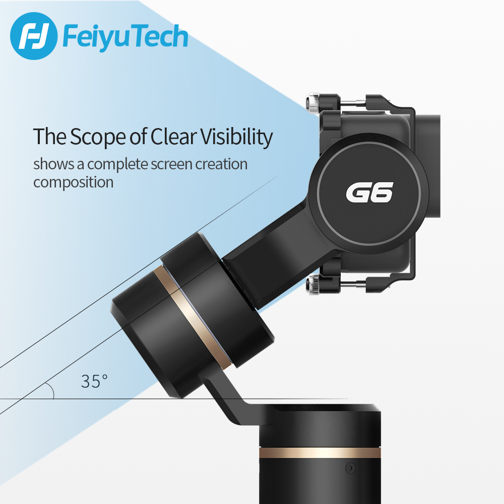 FeiyuTech G6 Splashproof Handheld Gimbal Action Camera WiFi + Blue - Камера және фотосурет - фото 4