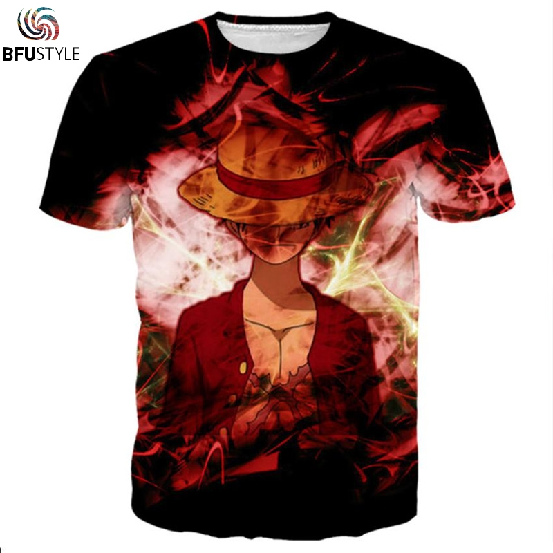 Luffy One Piece T-shirts Men Women 2018 New Fashion Hip Hop Strretwear T Shirt Casual Brand Clothing 3D Printed Summer Tops Tees
