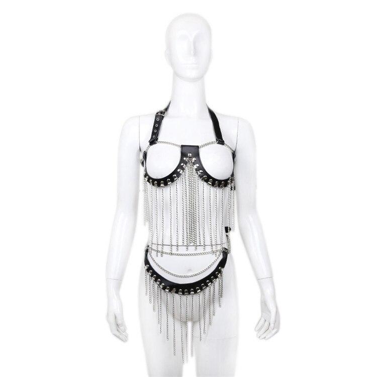 Jeux pour adultes Lingerie érotique Bandage soutien-gorge Costumes pour femmes exposer seins sexe Bdsm Bondage contraintes boîte de nuit
