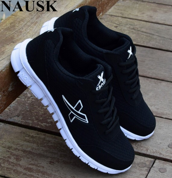 NAUSK 2018 New Lightweight Casuals Shoe  Breathable Mesh Mens Casual Shoes Adult Casuals Shoe Tenis Masculino Adulto Sneakers