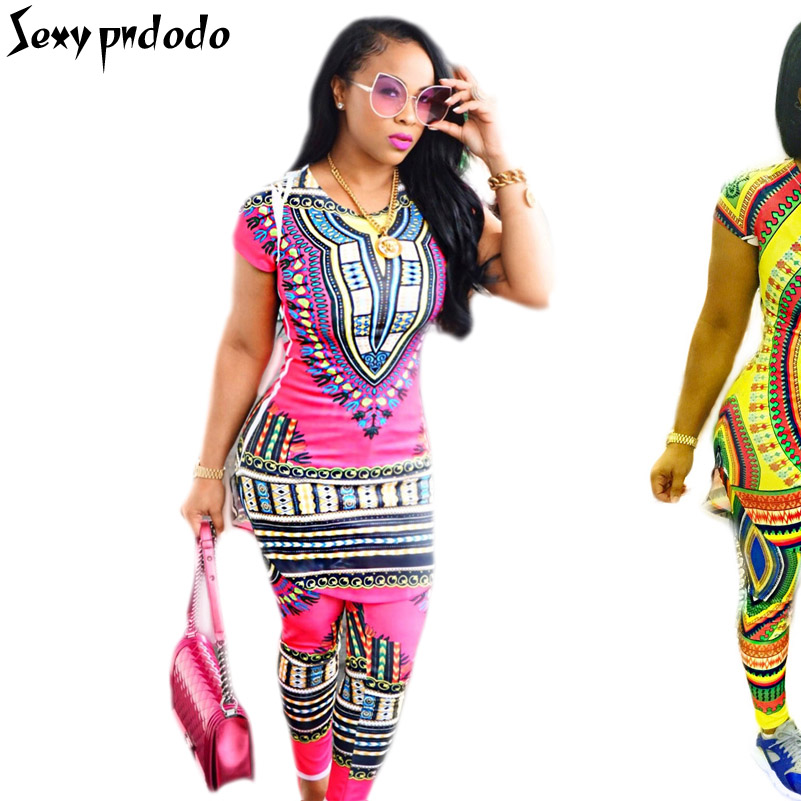 2016 New Summer 2 Piece Sets Women Dashiki Ladies African Traditional Clothing Bazin Riche Broderies Embroidery Bodycon Overalls