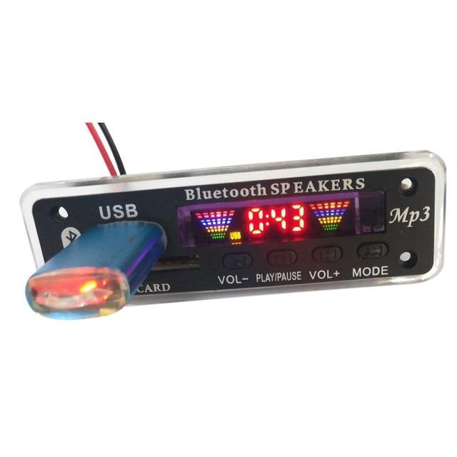 LED USB Bluetooth 5.0 Âm Thanh Lossless APE Mô-đun TF FM Đài Phát Thanh Hỗ Trợ Bộ Nhớ Điện-off Phát Lại Không Dây 12 V MP3 WMA Board Giải Mã