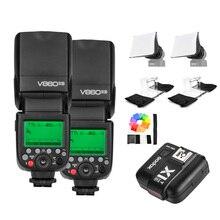 Godox v860ii-s gn60 ttl hss 1/8000 s speedlite kamera blitzlicht w/li-ion akku für sony dslr mi schuh + kamera regen usw