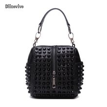 59750e9224c9 DIINOVIVO Thread Women Handbag European and Americans Style Punk Shoulder  Bag Simple Brand Rivet Leather Casual Totes WHDV0148