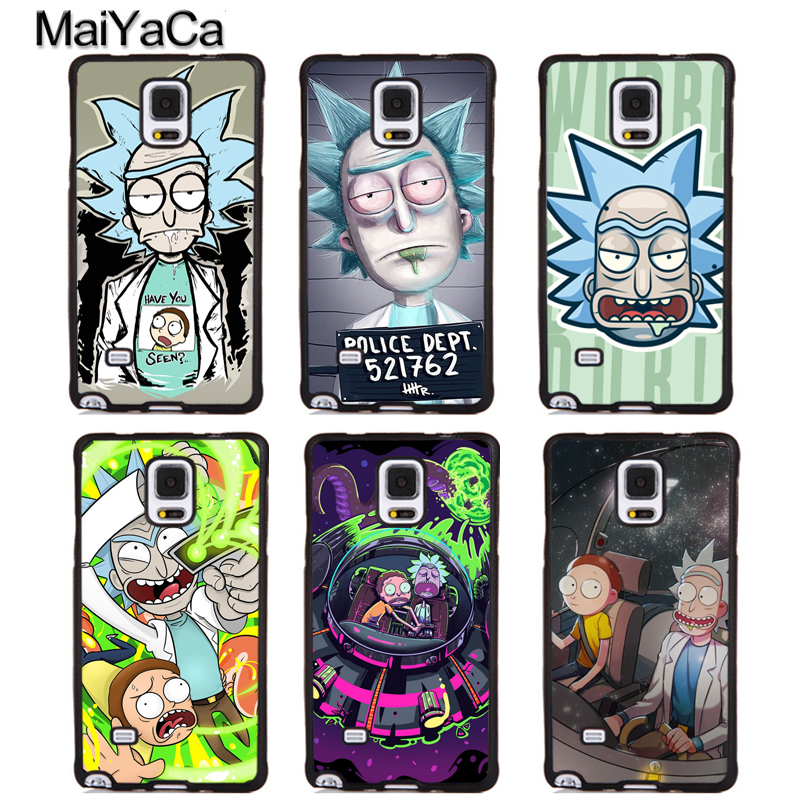 MaiYaCa Rick and Morty Funny TV Soft TPU Phone Cases For Samsung Galaxy S5 S6 S7 edge plus S8 S9 plus Note 5 8 Back Cover Coque