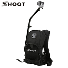 SHOOT Bicycle Sports Traveling Backpack with Cycling Pole Stick for GoPro Hero 5 4 Session Yi 4K SJCAM Action Camera Backpack
