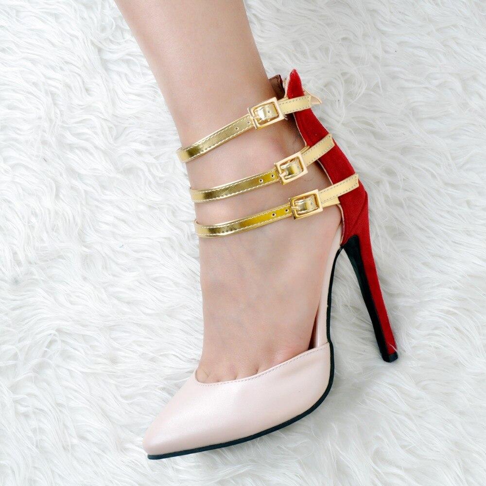 Xd0191 Hermosos Mujer Tamaño Del Ee Más Tacones Bombas Zapatos 4 Calidad Mujeres Original 15 Intención uu Dedo Pie Multicolors Alta Puntiagudo xwgZITRO
