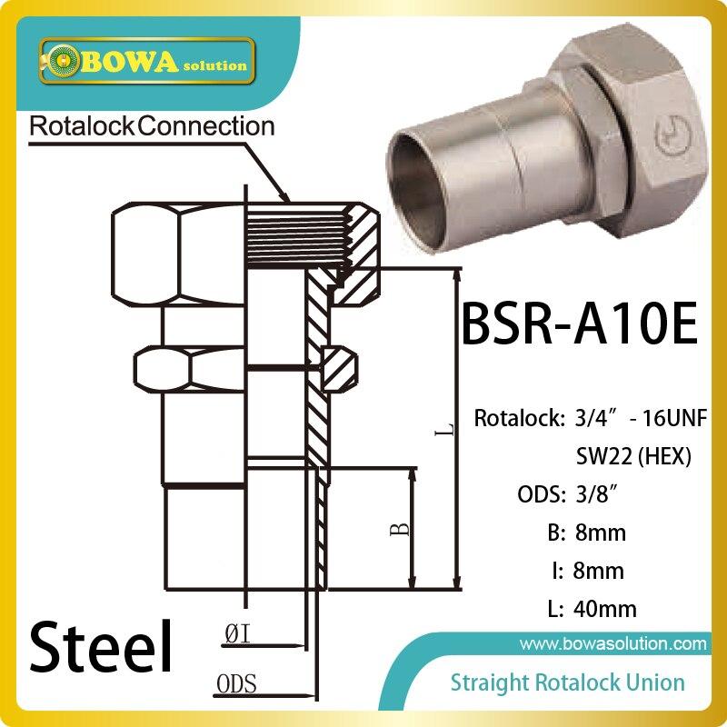 3/8 ODS straight SW22 hex rotalock valve for water chiller scv valve suction control valve 8 98145455 0 8 98145453 0 for isuzu 4jk1 4jj1