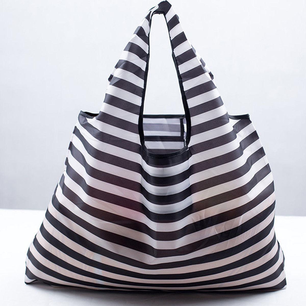 Fashion Shopping Bag Large Capacity Recyclable Reuse Oxford Cloth Tote Bag Cartoon Printing Waterproof Gift Bag