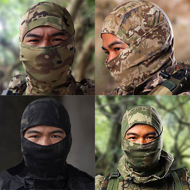 Nuoxintr Outdoor Motorcycle Face Mask Camouflage Army Cycling Cap Balaclava Hats Full Headgear for Wargame Moto Motocross Mask 1