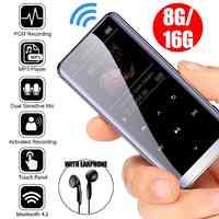 16 GB bluetooth MP3 odtwarzacz HiFi słuchawki radia fm mini USB mp3 sportowe MP 4 HiFi przenośny odtwarzacze muzyki nagrywania głosu rejestrator