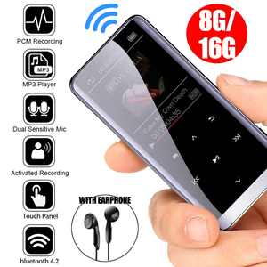 Music Players Earphones Voice-Recording-Recorder MP3 Fm-Radio Hifi Bluetooth 16GB Mini-Usb