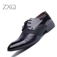 Luxury Brand Men Shoes Men s Flats Shoes Men Patent Leather Shoes Classic Oxford Shoes For