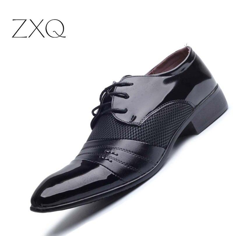 Luxus Marke Männer Schuhe herren Wohnungen Schuhe Männer Lackleder Schuhe Klassische Oxford Schuhe Für Männer Neue Mode