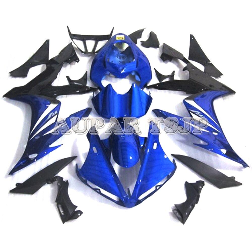 Kit de carénage en plastique bleu noir Lowers Sportbike pour Yamaha YZF1000 R1 2004 2005 2006 04-06 carénages d'injection ABS moto
