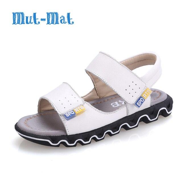 Детские Сандалии Обувь Из Натуральной Кожи Летние Моды Отдыха Дышащие Легкие Сандалии Мальчики Повседневная Кожи Детей Обувь для Девочек