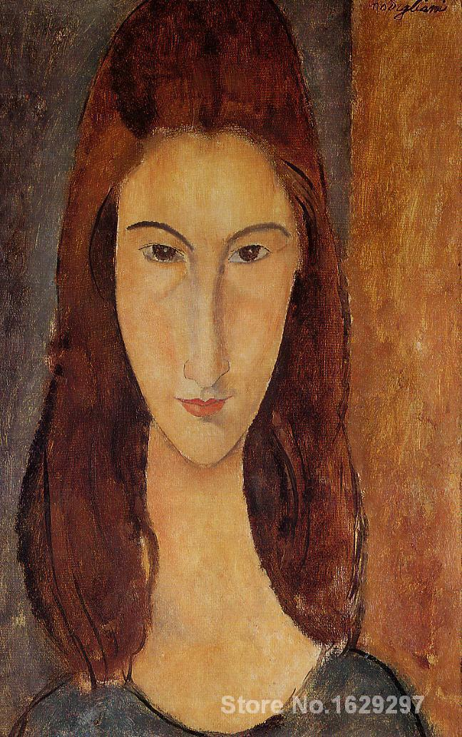 Jeanne Hebuterne II Amedeo Modigliani painting for sale Hand painted High quality