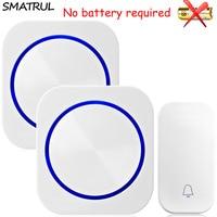 SMATRUL Self Powered Waterproof Wireless DoorBell Night Light No Battery EU Plug Home Door Bell Ring