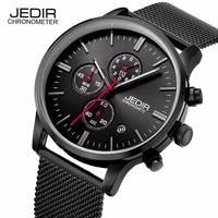 JEDIR Klassieke mannen Eenvoudige stijl Horloges Dag Stopwatch Mannelijke Quartz-horloge Horloge Montre Homme Geschenkdoos Gratis schip