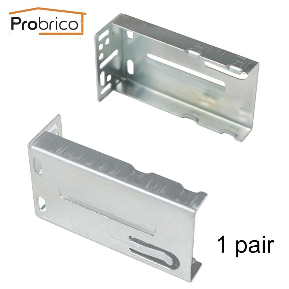 Probrico 2 PCS /1 Pair Mount Rear Frame Drawer Brackets