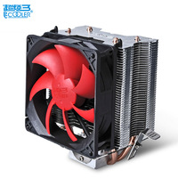 Pccooler CPU Cooler 2 Pure Copper Heatpipes 9cm Quiet Fan Computer PC Cpu Cooling Radiator Fan
