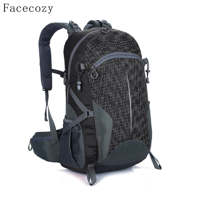 Facecozy Outdoor Sport Hiking Backpack Waterproof Camping Trekking Ultralight Bags 40L Breathable Fishing Rucksack Men Women