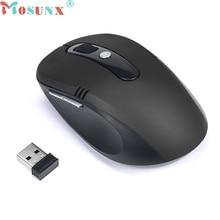 Mosunx мышь сем fio беспроводной мыши 2.4 ГГц беспроводная мышь usb оптическая прокрутки мышь для планшетных портативный компьютер люкс #1525