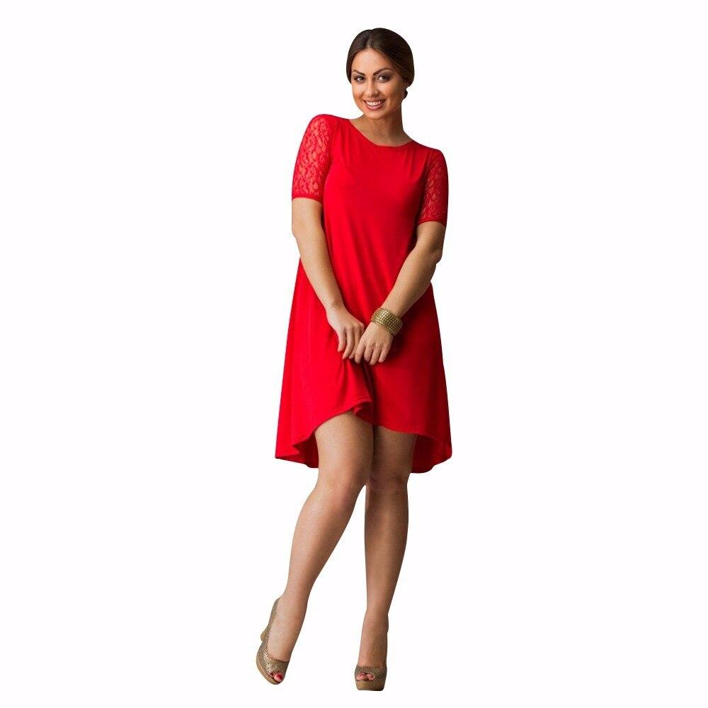 US $11.42 48% OFF|2019 Summer Loose Dress Lace Sleeve Women Dress Plus Size  Women Clothing A line Casual Dress 5XL 6XL Large Beach Dress Female-in ...