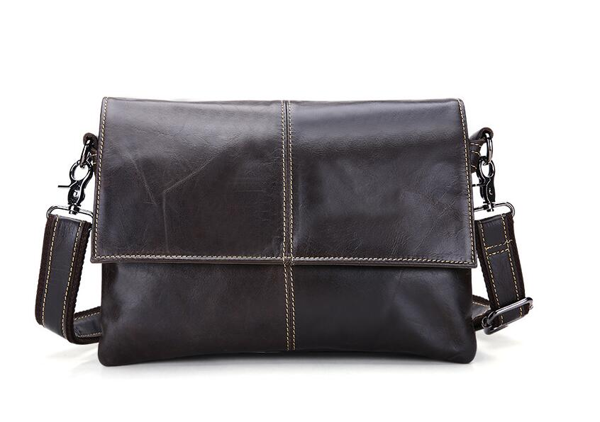 Casual fashion genuine leather man bag male one shoulder cross-body bag small male  ipad   bag clutch bag first layer cowhide hot selling crazy horse leather man bag vintage casual first layer of cowhide handbag one shoulder cross body computer bag 0201