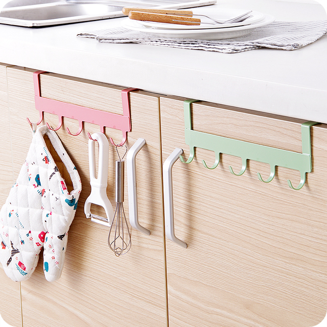 Kitchen Cabinet Door Back Storage Rack Holder Hook
