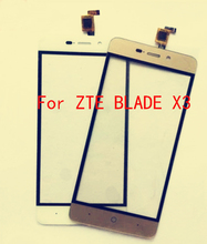 100% Brand New Black/White/Gold  For ZTE Blade X3 D2 T620  Touch Screen Digitizer  Assembly Free shipping + Order Tracking
