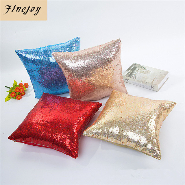 Fine Joy 40x40 Cm Glitter Sequin Cushion Cover Colorful Square
