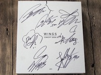 Signed BTS Autographed 2017 WINGS CONCEPT BOOK Official Limited Korean Ver K Pop 082017